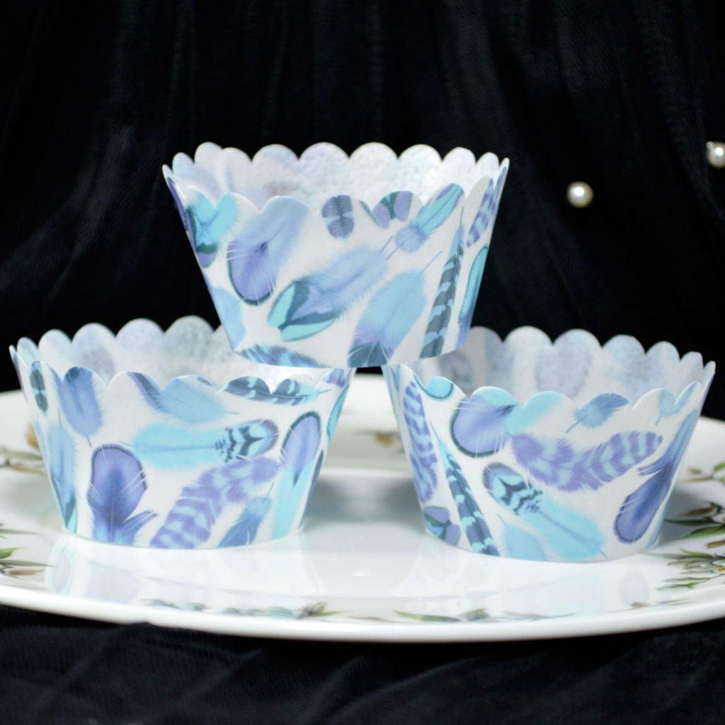Wickstead's-Eat-Me-100%-Edible-Cupcake-Wrappers-from-our-Frozen-Winter-Boho-Feather-Collection