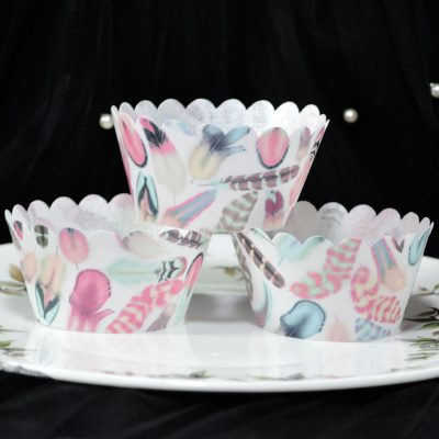 Wickstead's-Eat-Me-100%-Edible-Cupcake-Wrappers-from-our-Sherbet-Cloud-Boho-Feather-Collection