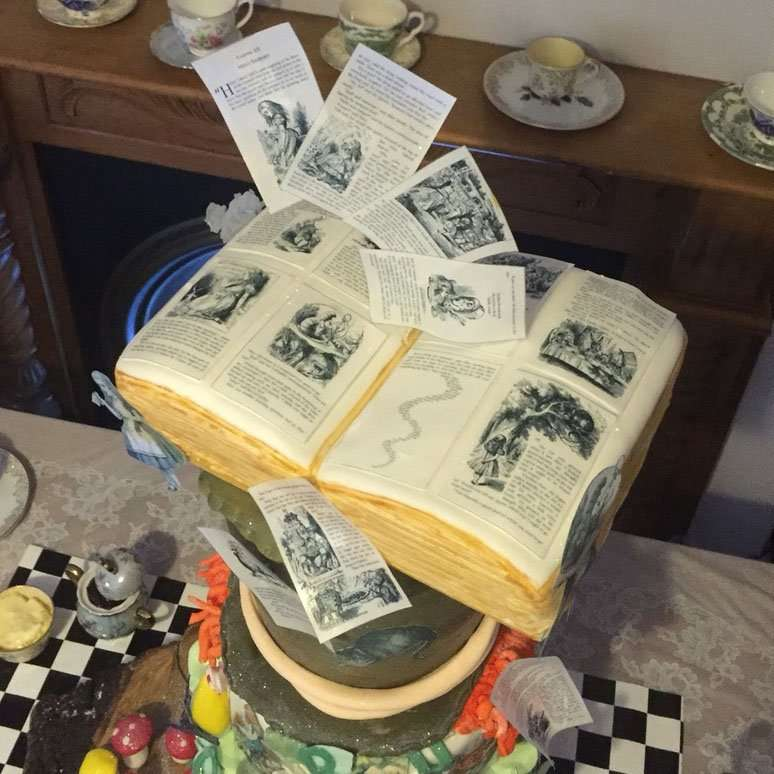 Wickstead's Eat ME - Book Pages Cake