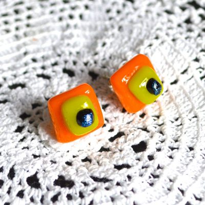 Wickstead's-AW-Designs-UK-Bright-Orange-Yellow-Sterling-Silver-Dichroic-Glass-Stud-Earrings-(1)