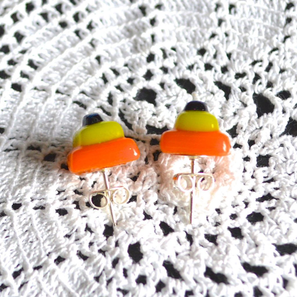 Wickstead's-AW-Designs-UK-Bright-Orange-Yellow-Sterling-Silver-Dichroic-Glass-Stud-Earrings-(4)