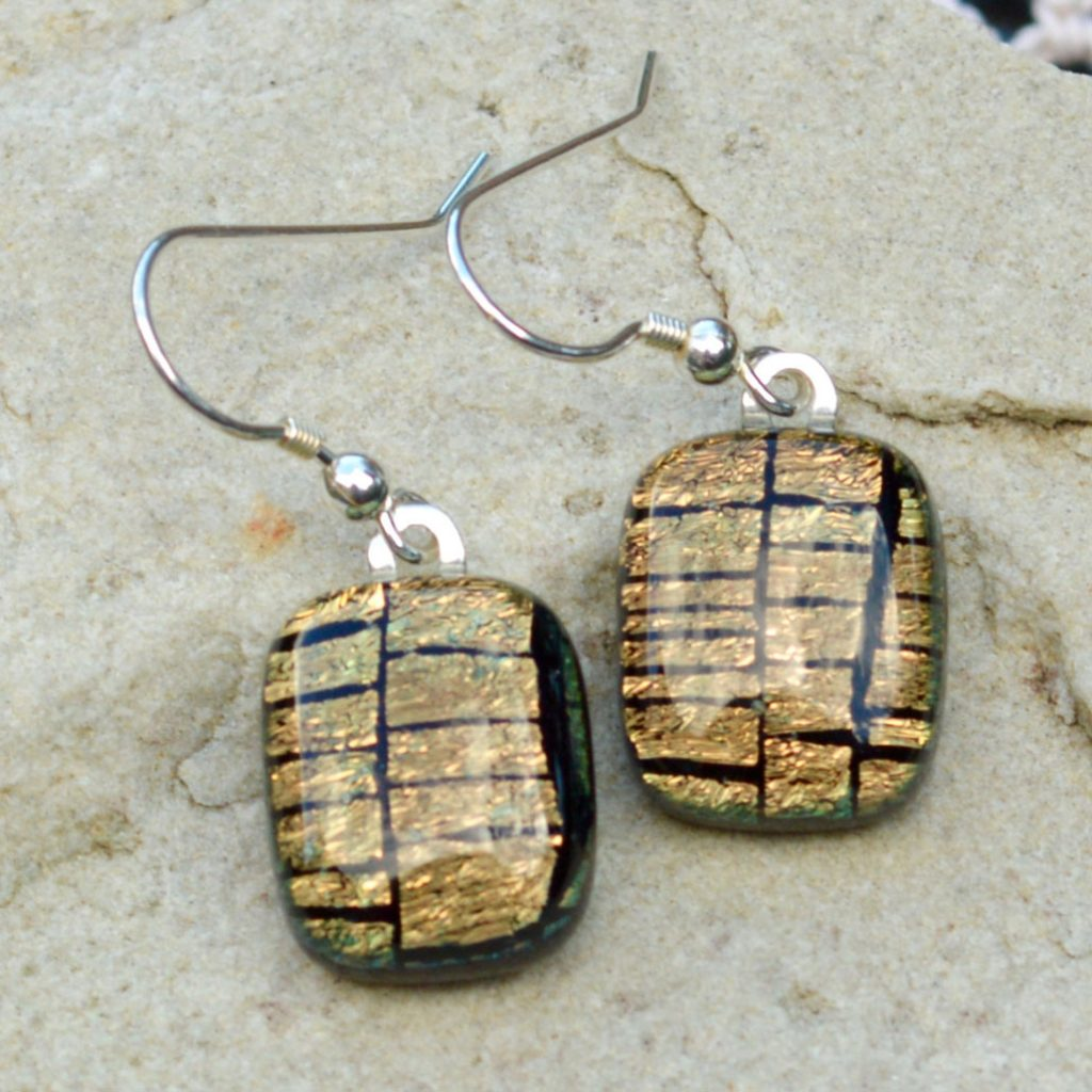 Wicksteads AWDesignsUK Golden Copper Sterling Silver Drop Earrings