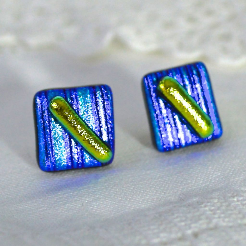 Wickstead's-AW-Designs-UK-Metallic-Blue-Lime-Sterling-Silver-Dichroic-Glass-Stud-Earrings-(4)