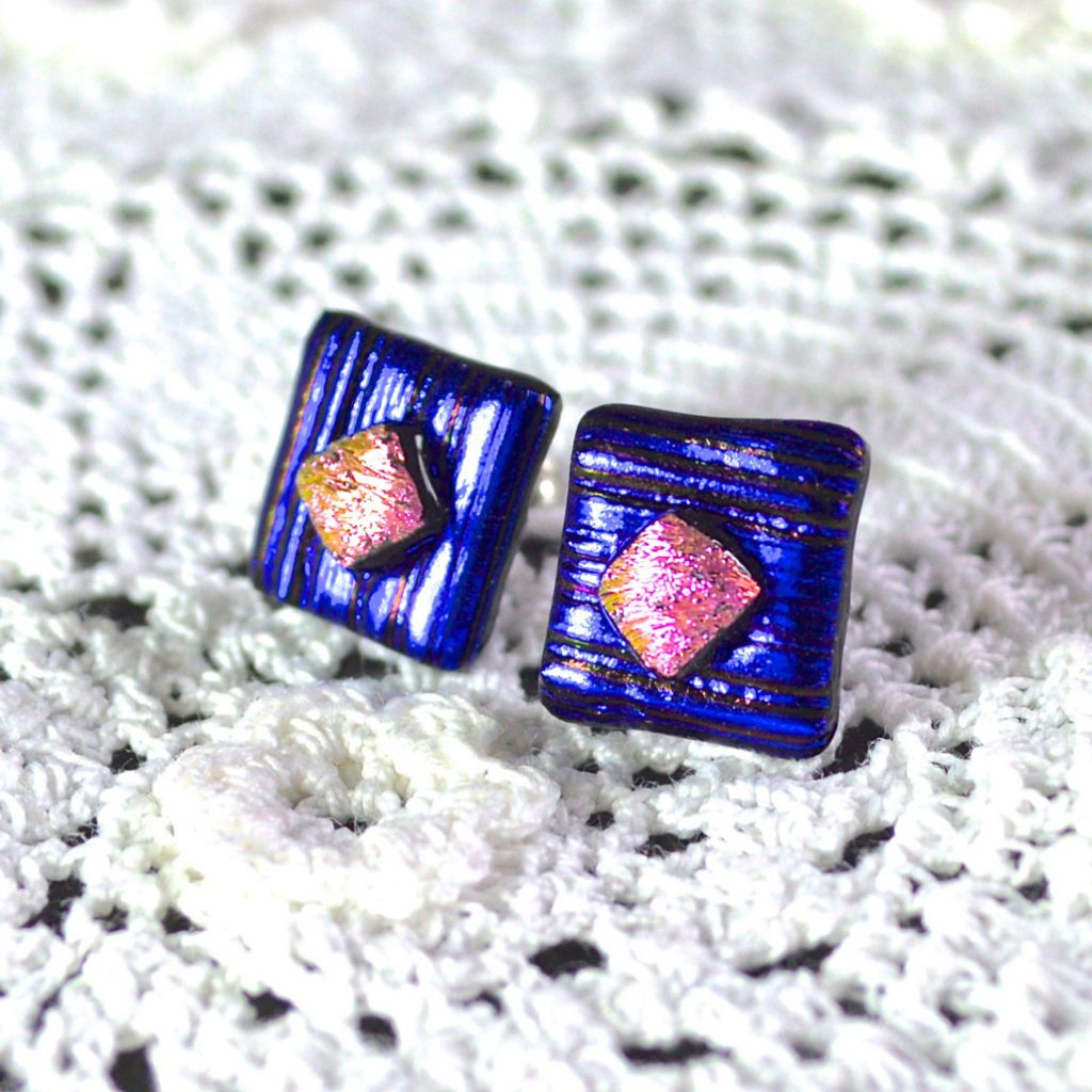 Wickstead's-AW-Designs-UK-Metallic-Blue-Sterling-Silver-Dichroic-Glass-Stud-Earrings-(1)