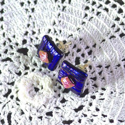 Wickstead's-AW-Designs-UK-Metallic-Blue-Sterling-Silver-Dichroic-Glass-Stud-Earrings-(4)