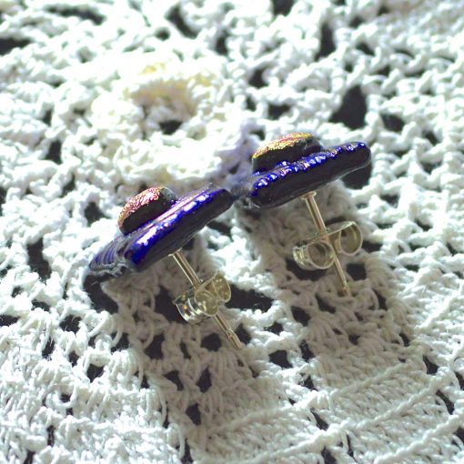 Wickstead's-AW-Designs-UK-Metallic-Blue-Sterling-Silver-Dichroic-Glass-Stud-Earrings-(5)