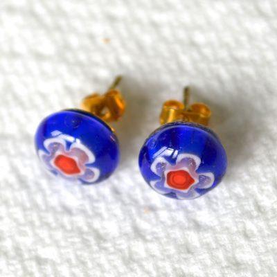 Wickstead's-AW-Designs-UK-Millefiori-Blue-Glass-Stud-Earrings-(4)