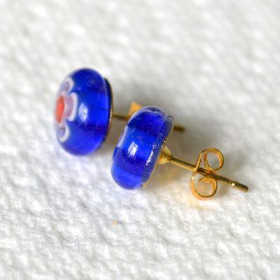 Wickstead's-AW-Designs-UK-Millefiori-Blue-Glass-Stud-Earrings-(5)
