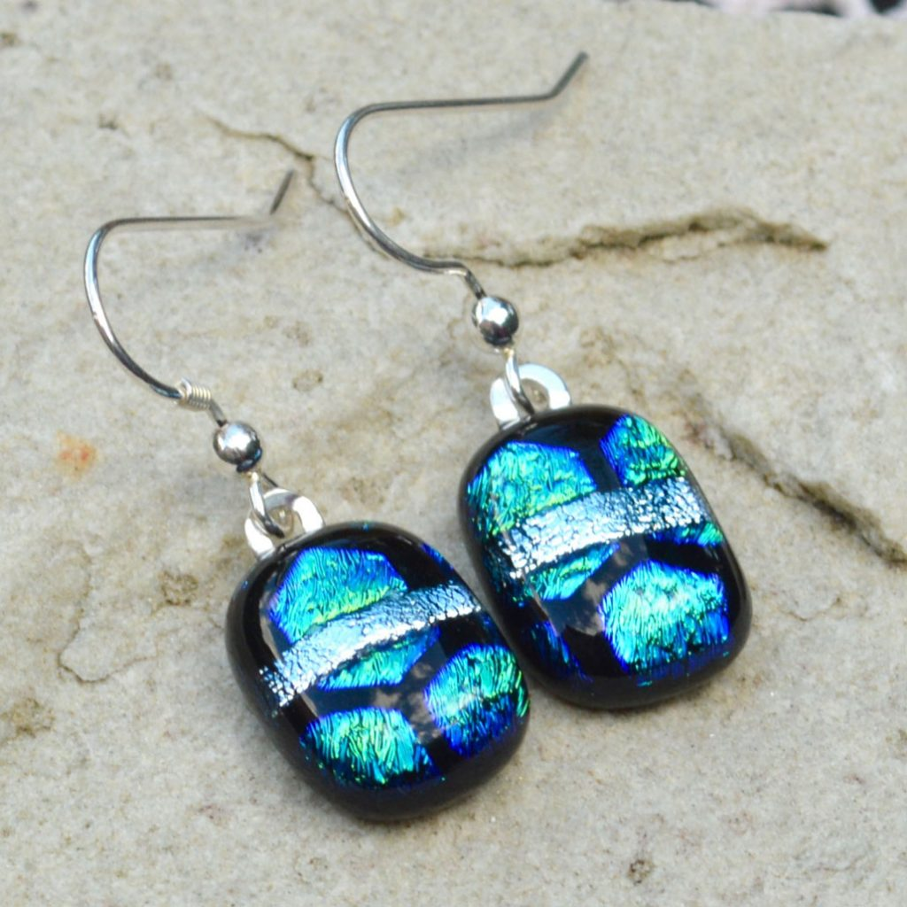Wickstead's-AW-Designs-UK-Ocean-Blue-Greens-Sterling-Silver-Dichroic-Glass-Drop-Earrings-(4)