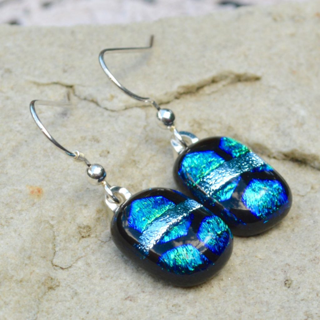 Wickstead's-AW-Designs-UK-Ocean-Blue-Greens-Sterling-Silver-Dichroic-Glass-Drop-Earrings-(5)