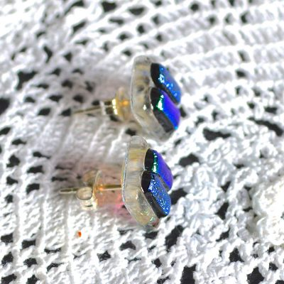 Wickstead's-AW-Designs-UK-Ocean-Turquoise-Sterling-Silver-Dichroic-Glass-Stud-Earrings-(3)