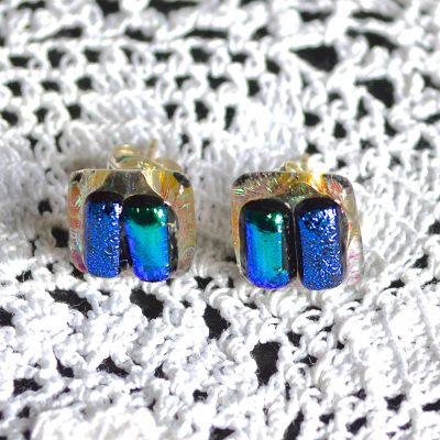Wickstead's-AW-Designs-UK-Ocean-Turquoise-Sterling-Silver-Dichroic-Glass-Stud-Earrings-(4)