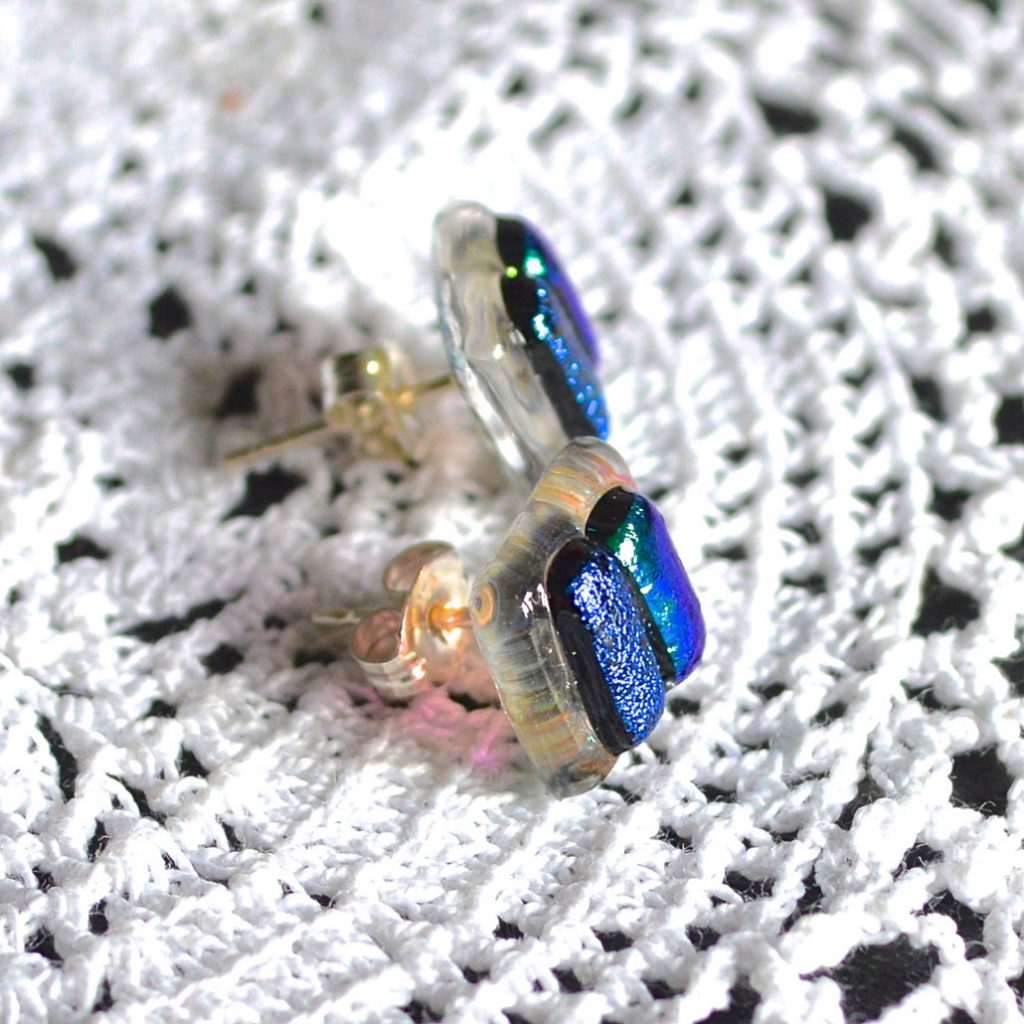 Wickstead's-AW-Designs-UK-Ocean-Turquoise-Sterling-Silver-Dichroic-Glass-Stud-Earrings-(5)