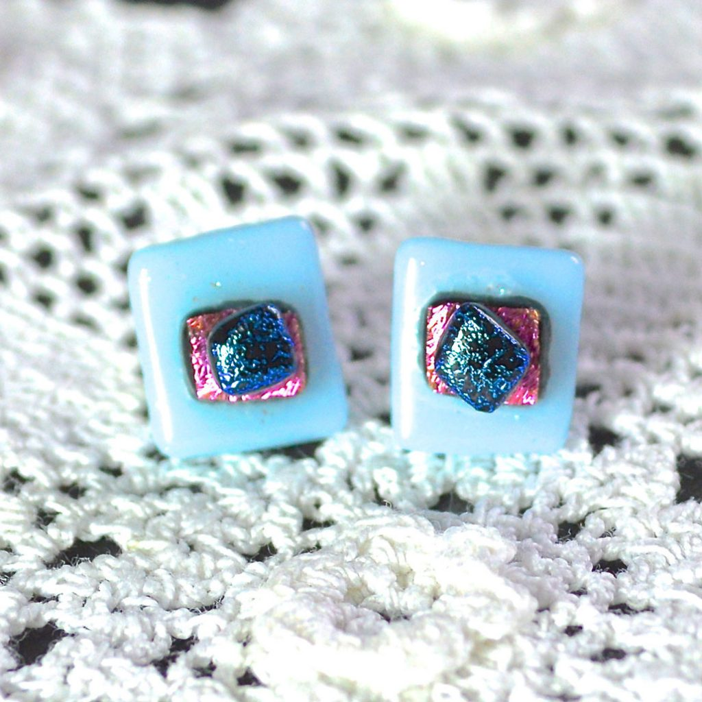 Wickstead's-AW-Designs-UK-Pastel-Blue-Sterling-Silver-Dichroic-Glass-Stud-Earrings-(1)