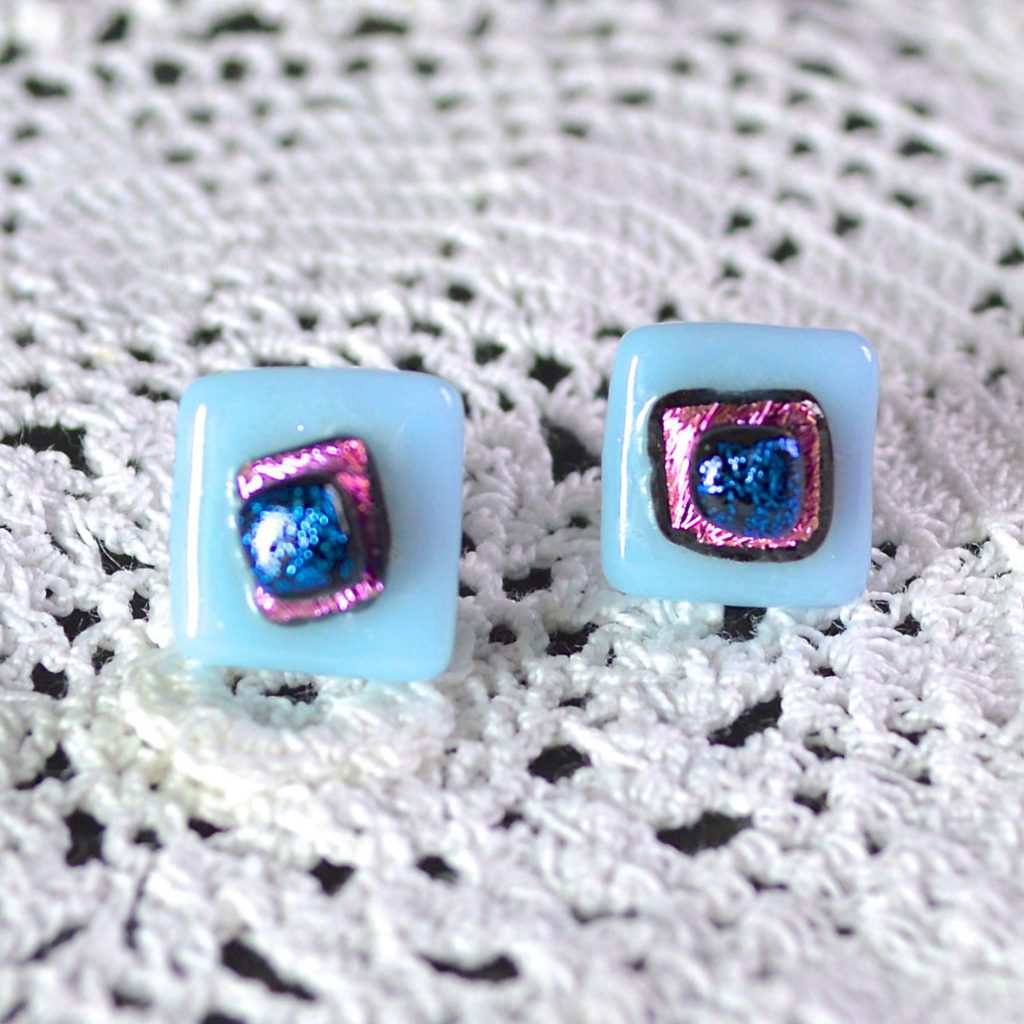 Wickstead's-AW-Designs-UK-Pastel-Blue-Sterling-Silver-Dichroic-Glass-Stud-Earrings-(2)