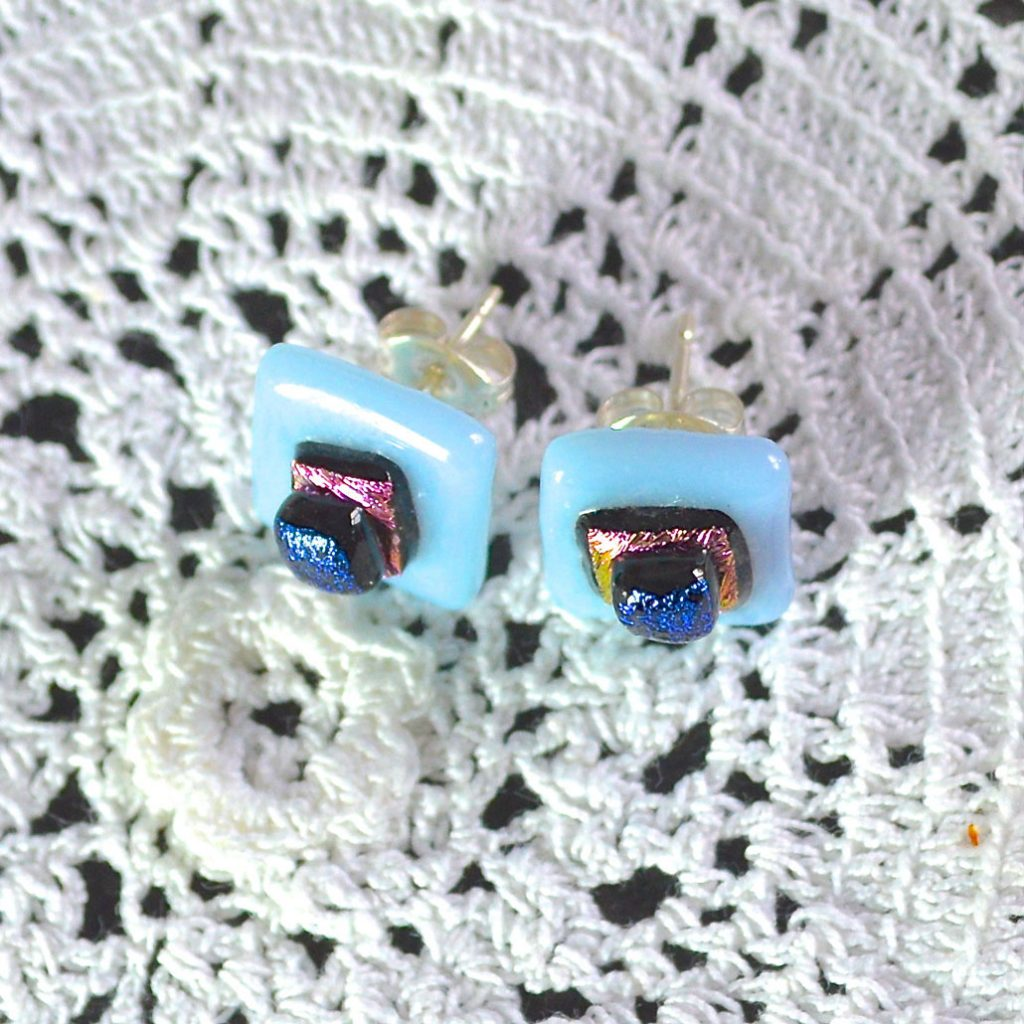 Wickstead's-AW-Designs-UK-Pastel-Blue-Sterling-Silver-Dichroic-Glass-Stud-Earrings-(3)