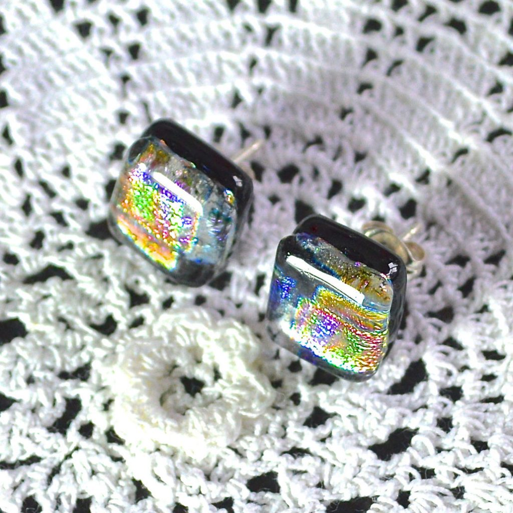 Wickstead's-AW-Designs-UK-Rainbow-Metallic-Sterling-Silver-Dichroic-Glass-Stud-Earrings-(2)
