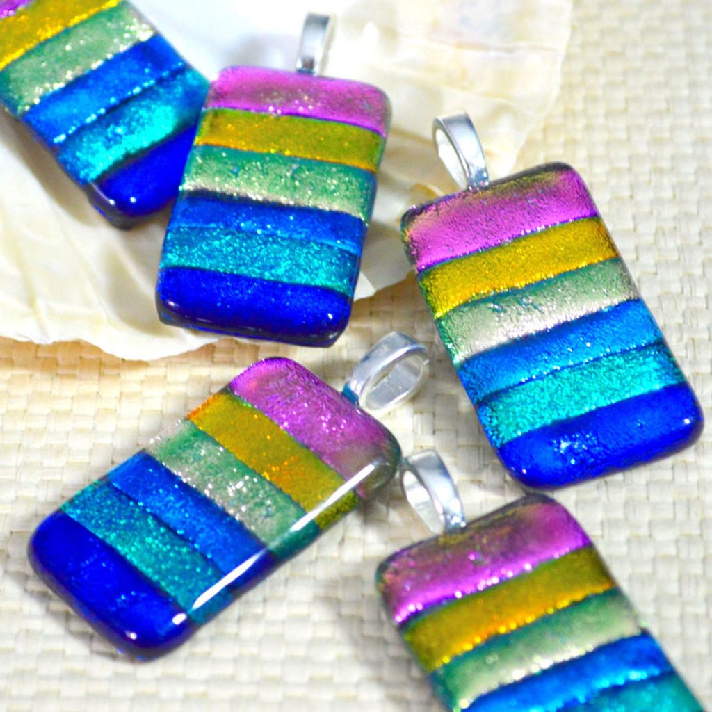 Wicksteads AWDesignsUK Rainbow Dichroic Glass Pendant