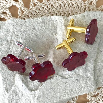 Wickstead's-AWDesigns-Deep-Red-Flower-Fused-Glass-Cufflinks-(5)