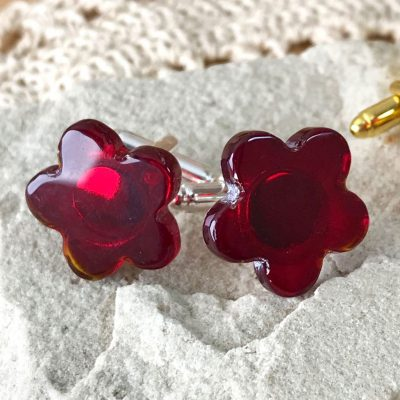Wickstead's-AWDesigns-Deep-Red-Flower-Fused-Glass-Cufflinks-(7)