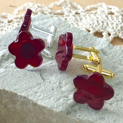 Wickstead's-AWDesigns-Deep-Red-Flower-Fused-Glass-Cufflinks-(9)
