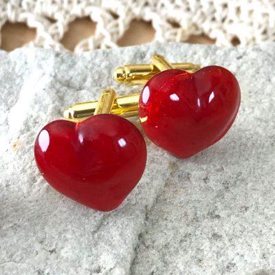 Wickstead's-AWDesigns-Red-Heart-Fused-Glass-Cufflinks-(3)