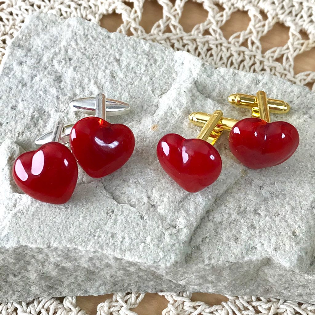 Wickstead's-AWDesigns-Red-Heart-Fused-Glass-Cufflinks-(4)