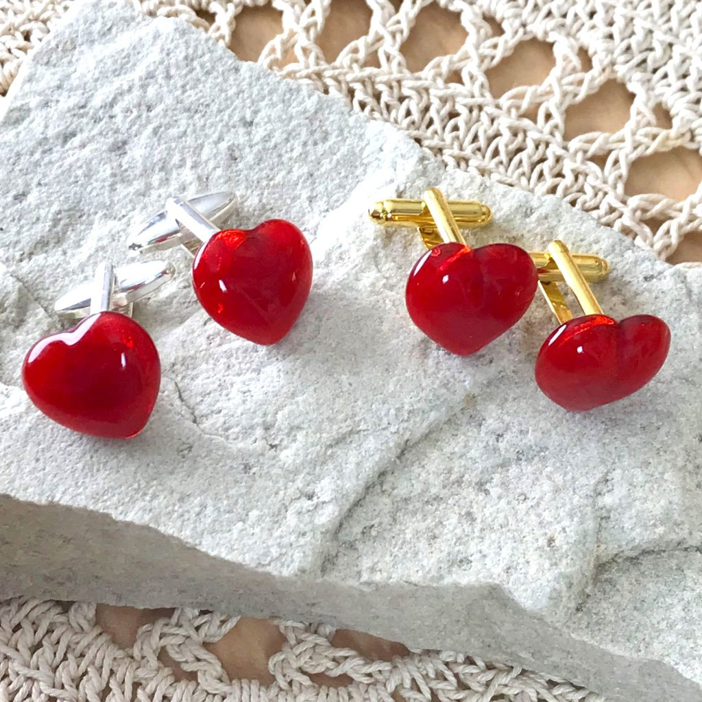 Wickstead's-AWDesigns-Red-Heart-Fused-Glass-Cufflinks-(6)
