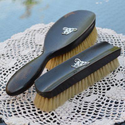Wickstead's Antique Ebony Wood Grooming Brush Accessories