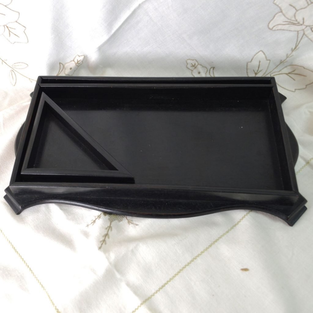 Wickstead's-Antique-Real-Ebony-Wood-Small-Triangle-Corner-Desk-Valet-Tray-(5)