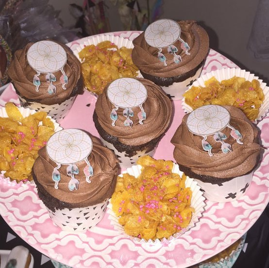Wickstead's-Customer-Photo-of-our-Cotton-Candy-Small-Dreamcatchers-on-Chocolate-Cupcakes