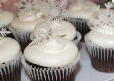 Medium White Snowflakes