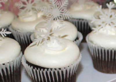 Wickstead's-Eat-Me-Customer's-Photos-White-Medium-Snowflakes-on-Chocolate-Cupcakes