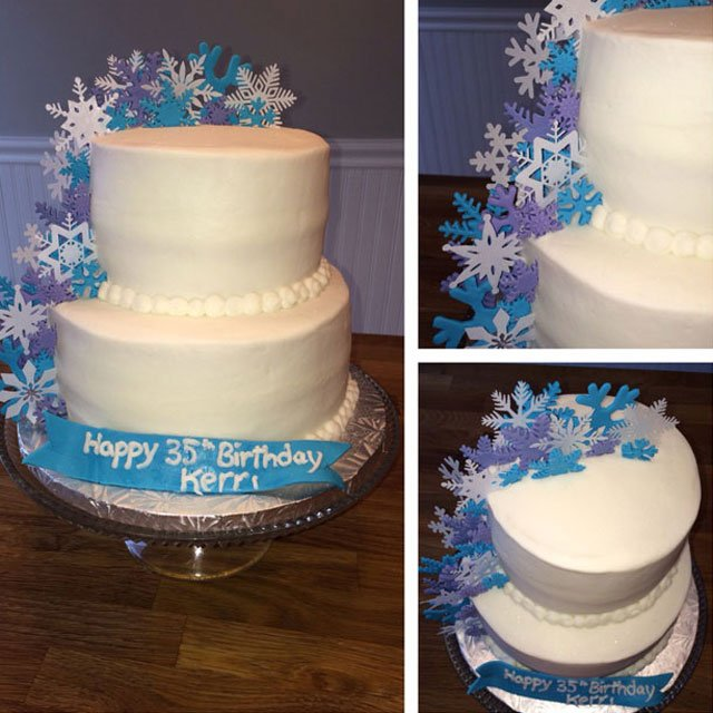 Wickstead's-Eat-Me-Customer's-Photos-White-Medium-Snowflakes-on-Tiered-35th-Birthday-Cake