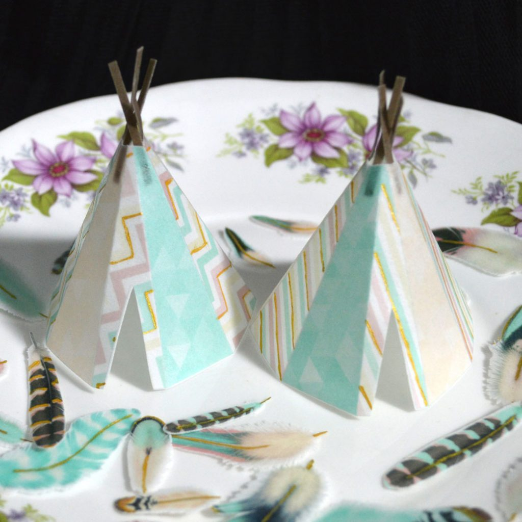 Wickstead's-Eat-Me-Edible-Images-Custom-Coloured-Personalised-Boho-3D-Teepee's-Gold-Detailing-(1)