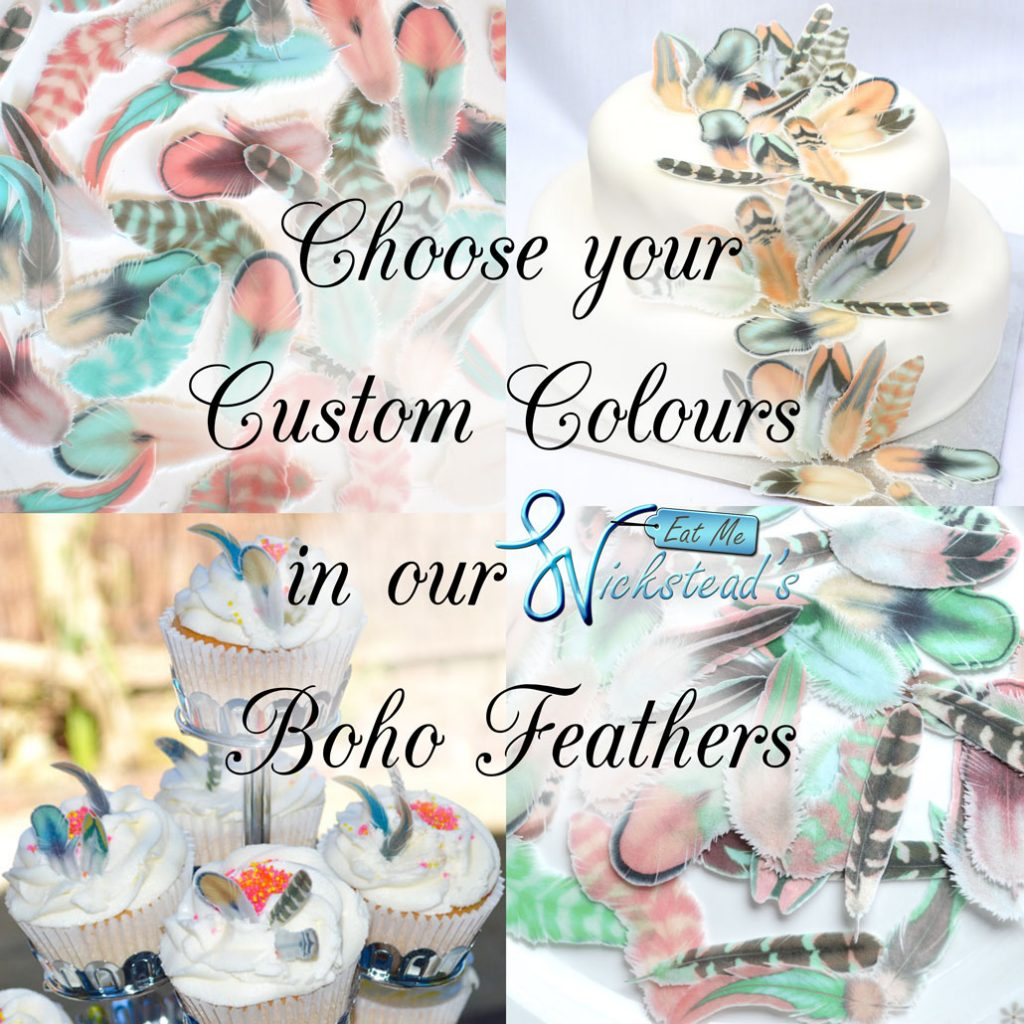 Wickstead's-Eat-Me-Edible-Images-Custom-Coloured-Personalised-Boho-Feathers