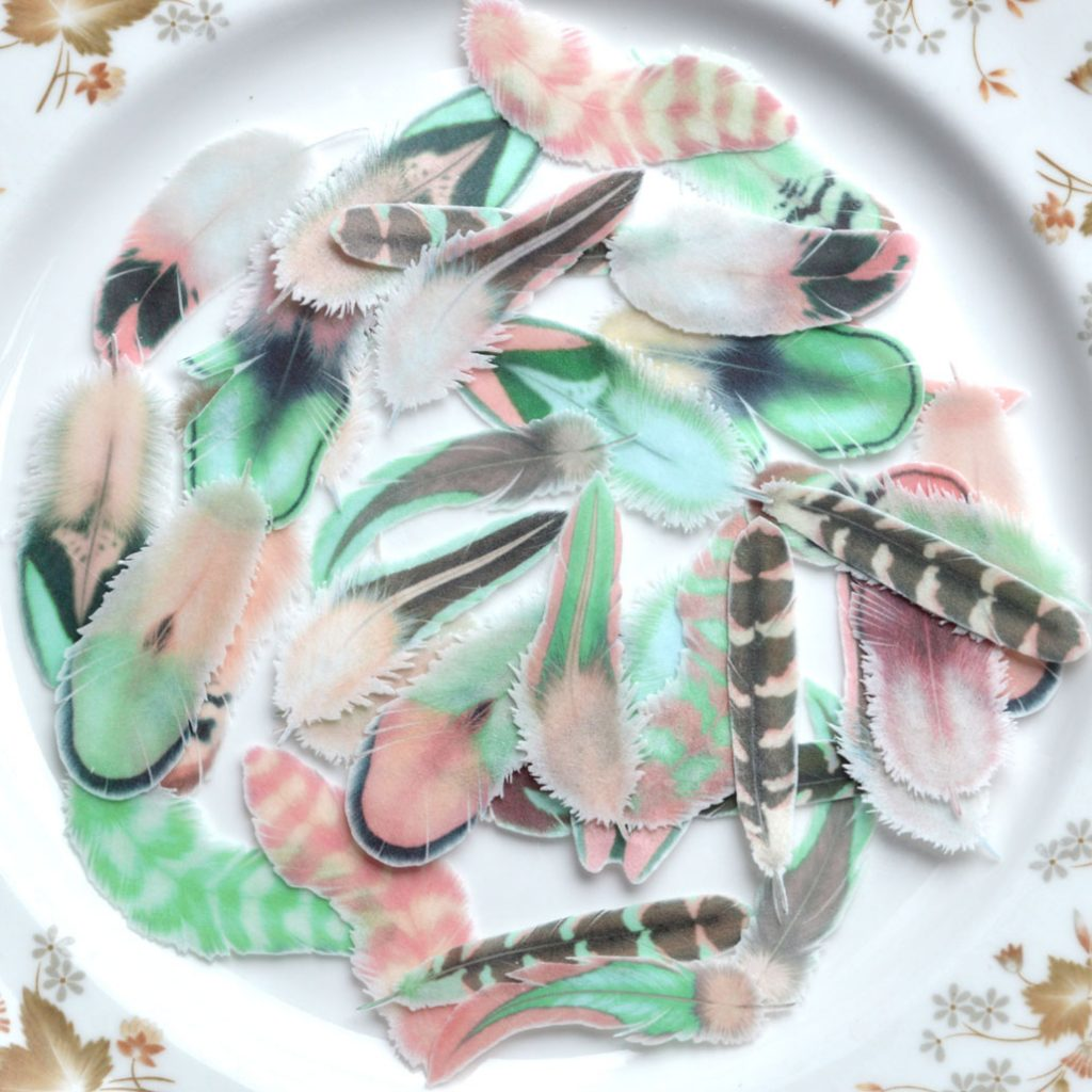 Wickstead's-Eat-Me-Edible-Wafer-Rice-Paper-Boho-Feathers-from-our-Green-Rose-Collection-(2)