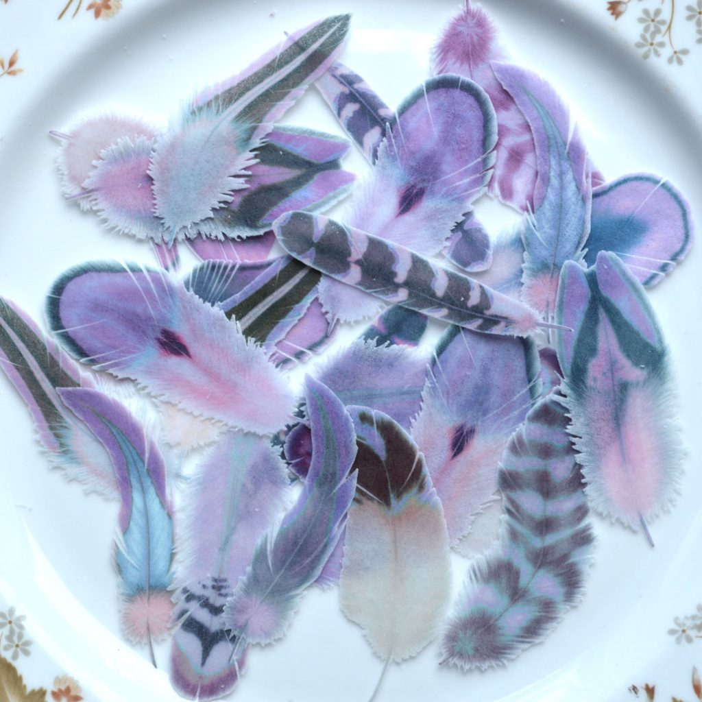 Wickstead's-Eat-Me-Edible-Wafer-Rice-Paper-Boho-Feathers-from-our-Purple-Passion-Collection-(2)