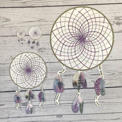 Wickstead's-Eat-Me-Edible-Wafer-Rice-Paper-Card-Purple-Passion-Boho-Dreamcatcher-8