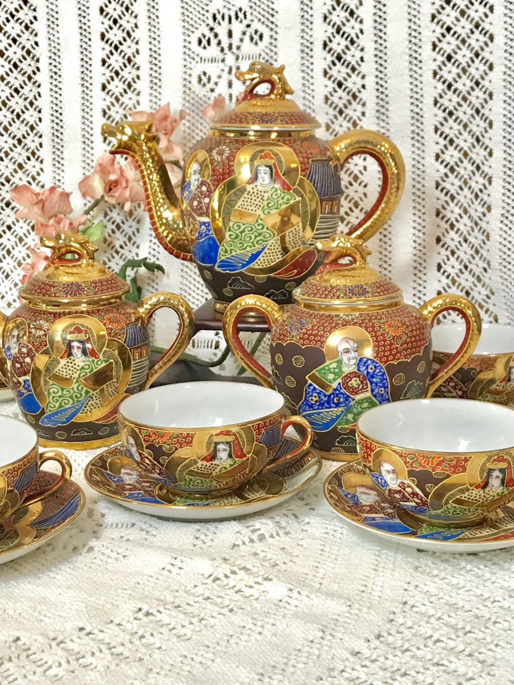 Wickstead's-Japanese-Red-Gold-Dragon-Moriage-Fine-Eggshell-Porcelain-Tea-Set-(9)