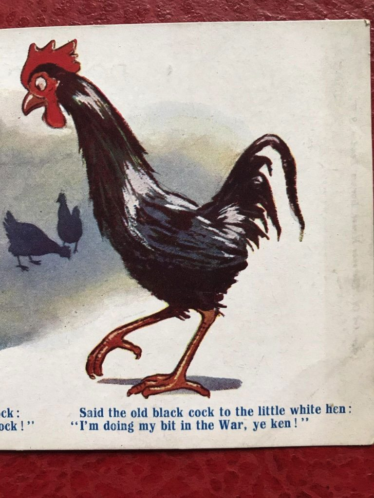 Wickstead's-Vintage-Farmyard-Cockerel-and-Hen-Comic-Postcard-(2)