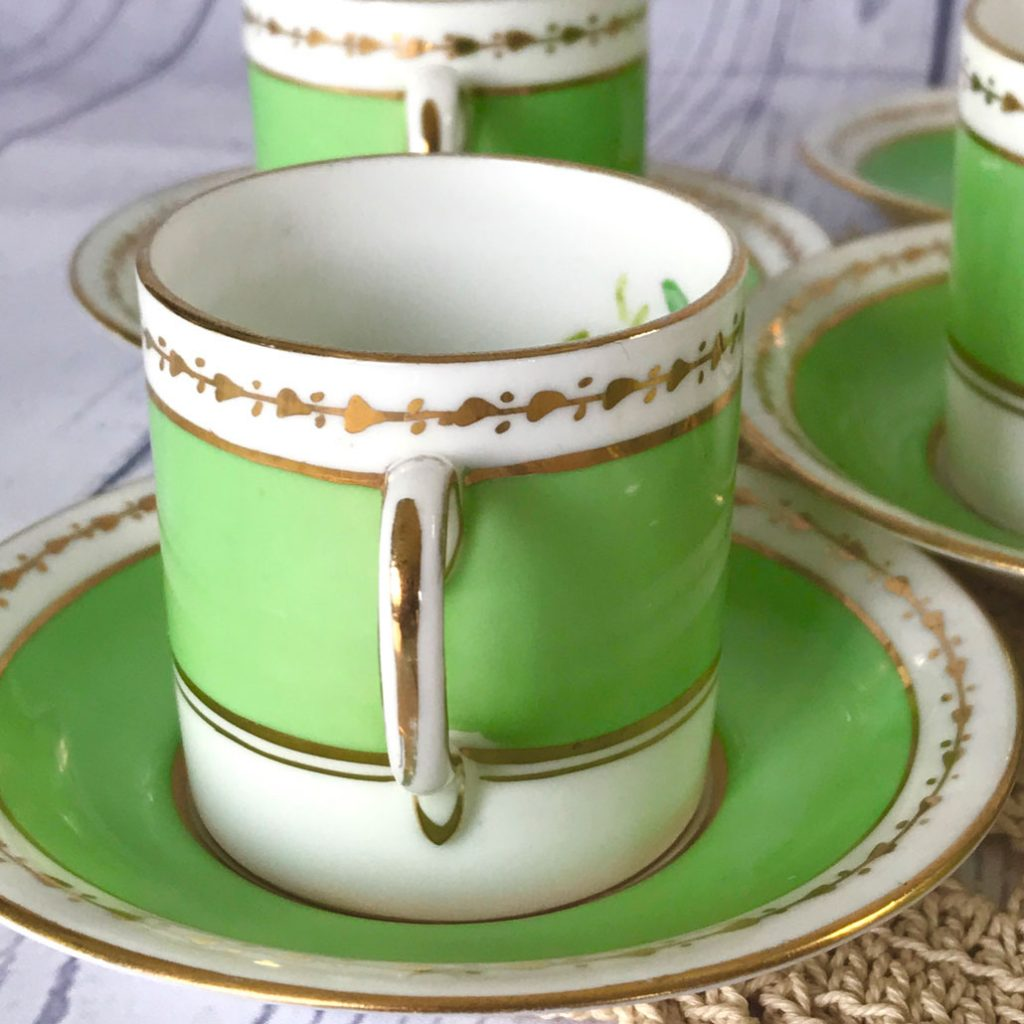 Wickstead's-Home-&-Living-Dainty-Coffee-Can-Cups-&-Saucers-Spring-Lime-Green-Set-(6)