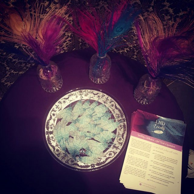 Wickstead's-Customer-Photo-of-our-Custom-Designed-Feathers-loose-on-display-table
