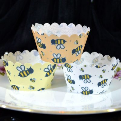 Wickstead's Eat Me 100% Edible Cupcake Wrappers Bumblebee Chintz
