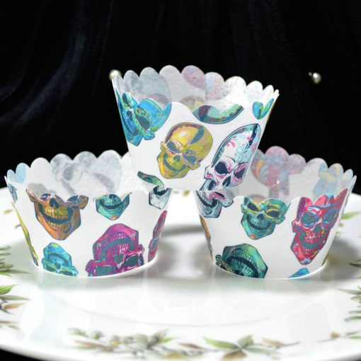 Wickstead's-Eat-Me-100%-Edible-Cupcake-Wrappers-Day-of-the-Dead-Colourful-Calavera-Skulls-(1)