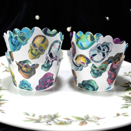 Wickstead's-Eat-Me-100%-Edible-Cupcake-Wrappers-Day-of-the-Dead-Colourful-Calavera-Skulls-(2)