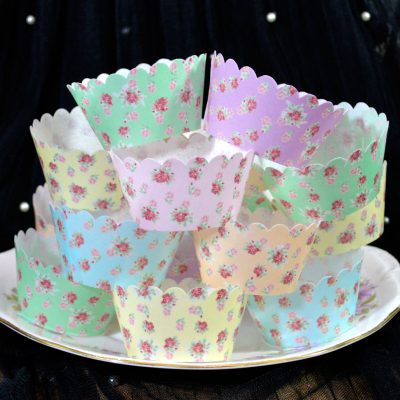 Wicksteads Eat Me 100% Edible Cupcake Wrappers Cottage Chic