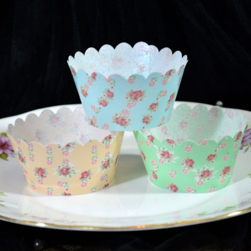 Wickstead's-Eat-Me-100%-Edible-Cupcake-Wrappers-Floral-Rose-Chintz-Blue-Green-Orange
