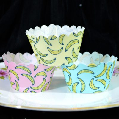 Wickstead's-Eat-Me-100%-Edible-Cupcake-Wrappers-Tropical-Banana-Fruit-Chintz-Pink-Yellow-Blue