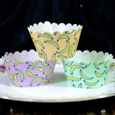 Wickstead's-Eat-Me-100%-Edible-Cupcake-Wrappers-Tropical-Banana-Fruit-Chintz-Purple-Orange-Green
